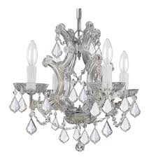 Maria Theresa Chandelier Crystorama 4474 Ch Cl Mwp Maria Theresa 4 Light 17 Inch Polished