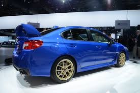 subaru hatchback wing 2015 subaru wrx sti bows in detroit with a big wing and 305hp 2 5l