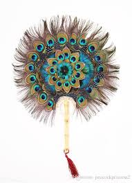 peacock feather fan 2018 nation wind peacock feather fan handmade