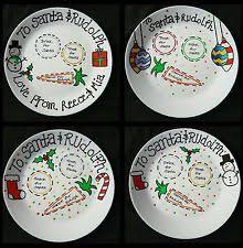 christmas plate personalised christmas plate santa rudolph ebay