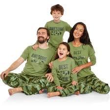 family pajamas camo sleep pant and top 2 sleepwear