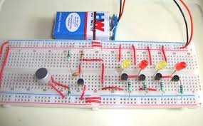 electronic components led lights electronic circuits and projects diy simple music operated led lights