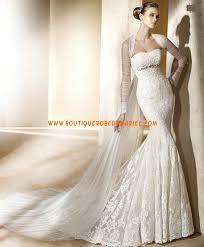 robe de mari e sirene robe de mariée sirène dentelle crystaux avec manteau de voile