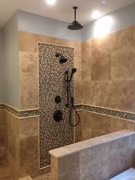 rustic travertine showerwall shower enclosure idolza