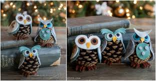 how to make diy pinecone owls how to