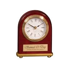 arch desk clock cherry wood i love trophies