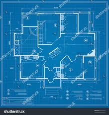 blueprint house plan drawing figure jotting stock vector 631621922
