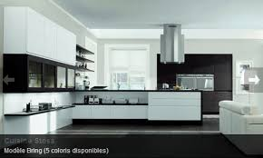 cuisine blanc noir modele cuisine blanc laqu simple modele de cuisine en l modale