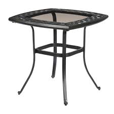 Square Patio Table Cover Patio Ideas Belcourt Metal Square Outdoor Bistro Table Square