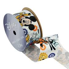 mickey ribbon 1 1 2 mickey mouse ribbon with friends white discount designer