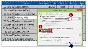 how to use pivot tables how to use pivot table in excel for table grouping number date texts