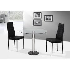 6 seat round glass dining table gallery dining