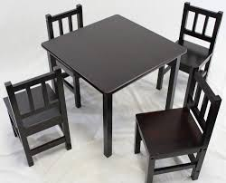 kids black table and chairs 13373