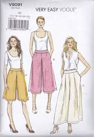 vogue sewing pattern misses very easy culottes u0026 pants size 6 22