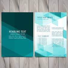 free flyer design abstract blue shapes brochure flyer design vector free