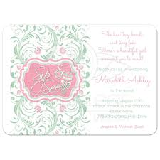 sip and shop invitation baby sip and see baby shower invitation rattle mint pink