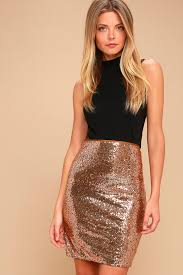 sequin skirt stunning copper sequin skirt sequin bodycon skirt