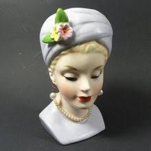 Napco Lady Head Vase 649 Best Head Vases Images On Pinterest Wall Pockets Head