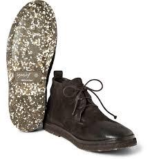 marsèll brushednubuck desert boots in brown for men lyst