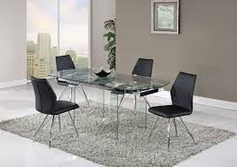 Clear Dining Chairs Dining Table D2160dt Clear By Global Furniture