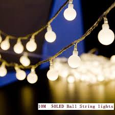 led color changing globe string lights with remote 10m 50leds mini ball global led string light eu 220v warm white