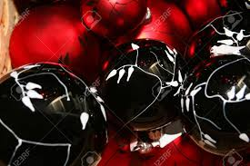 cropped of a decorations and black balls stock