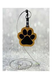 paw print ornament embroidery design ith