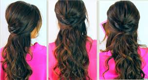 cute back to hairstyles everyday prom curly half up