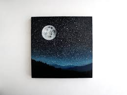 halloween canvas paintings what colors to use for a blended black background look best 25 moon painting ideas on pinterest watercolor moon moon