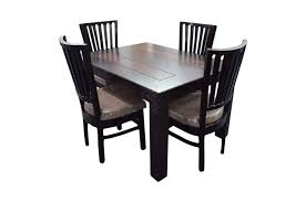 4 Seater Dining Table And Chairs Maira Ambel 4 Seater Dining Table Set Walnut Sanfurn