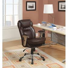 Leather Office Chair Serta Back In Motion Health And Wellness Mid Back Bonded Leather