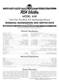 rca remote manual old radio information