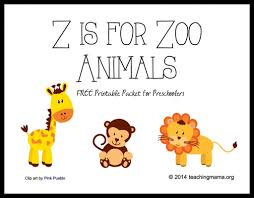 printable animal activities z is for zoo animals letter z printables