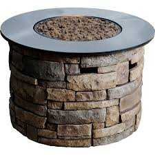 Outdoor Gas Fire Pit Shop Bond Canyon Ridge 36 6 In W 50 000 Btu Brown Composite Liquid