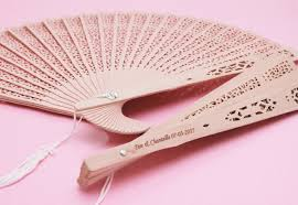 sandalwood fan personalized sandalwood fan favors palm and bamboo fans