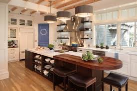 kitchen island with shelves practical kitchen island designs with open shelving