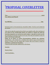 cover letter consulting proposal