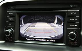 mazda cx 7 oem integrated backup camera system car safety