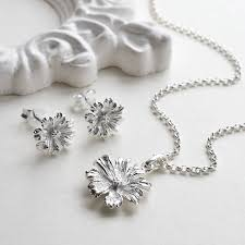 sterling silver flower necklace images Sterling silver cosmos flower necklace by martha jackson sterling jpg