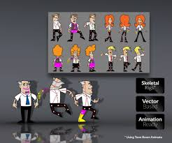 office bods u2013 character templates game art partners