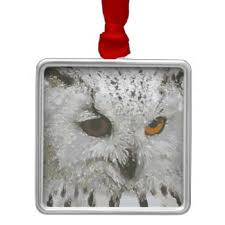 white owl ornaments keepsake ornaments zazzle