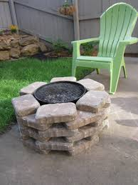 a diy firepit and grill combo