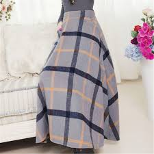 Wool Skirts For Winter Aliexpress Com Buy Winter Long Skirt Women Vintage Thick Plaid