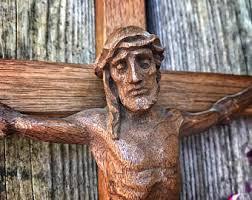 wood crucifix wood crucifix etsy