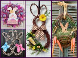 Easy Outdoor Easter Decorations by Easter Decorating 25 Best Bunny Wreath Ideas Spring Wreaths
