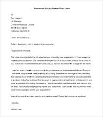 cover letter job accountant job application cover letter template