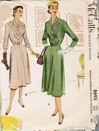 v shaped dress pattern mccalls 8695 40s shirtwaist dress with v shaped pleats size 14