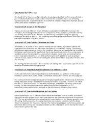 structured ojt process test assessment evaluation