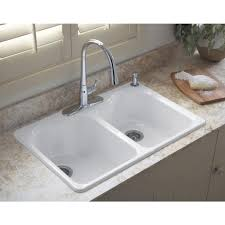 Kitchen Sinks Top Mount Double Porcelain Kitchen Sink