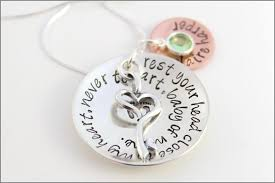 necklace baby name images New mom necklace custom quote pendant baby name pendant jpg